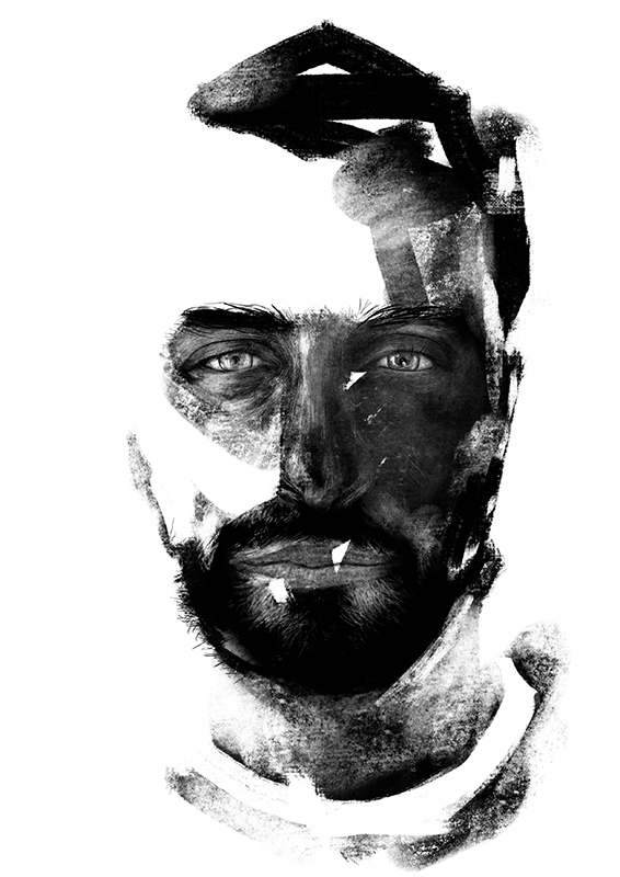 Stefano Marvulli Digital Portrait Canvas Italy