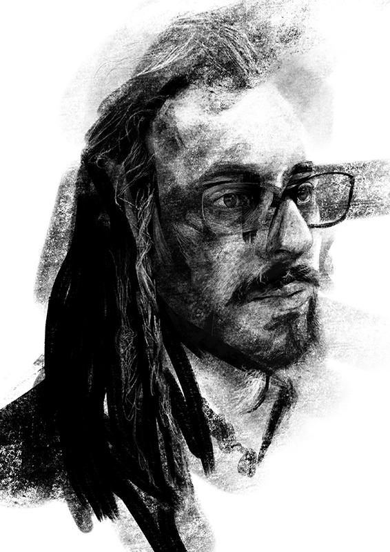 Stefano Marvulli Digital Portrait Canvas Italy