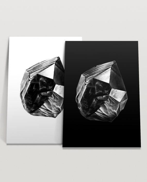 stefano-marvulli-wall-poster-art-canvas-interior-design-italy-mineral-crystal-black