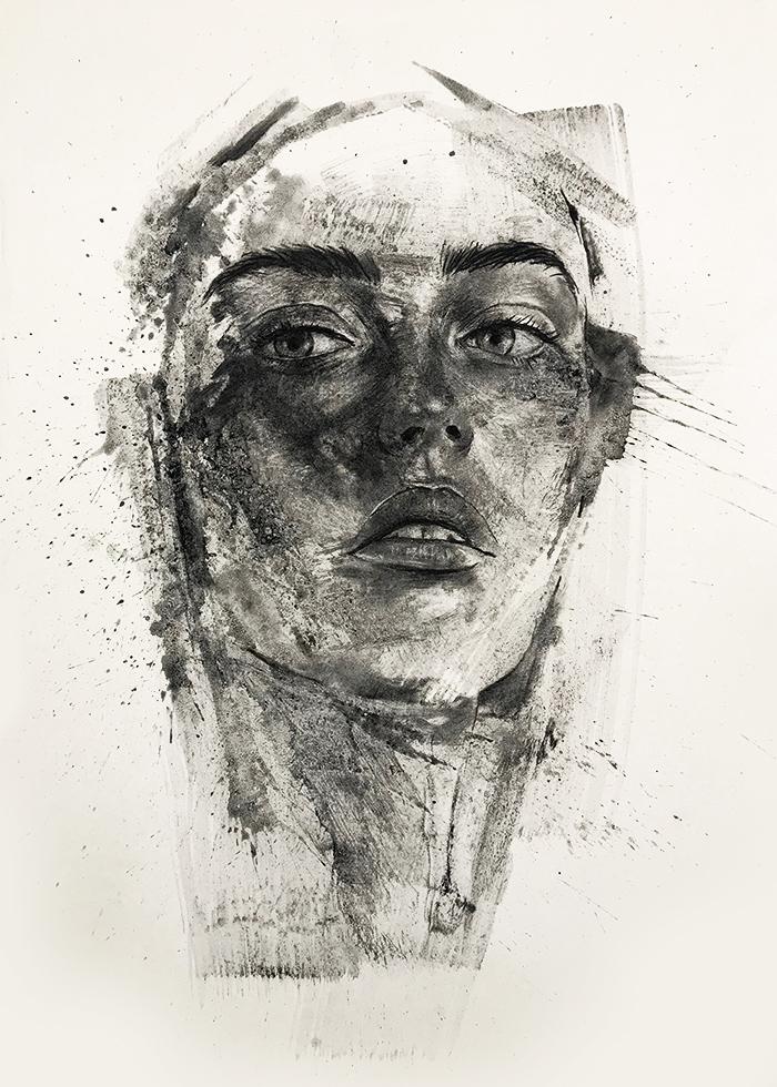 Stefano Marvulli painting portrait artist italy