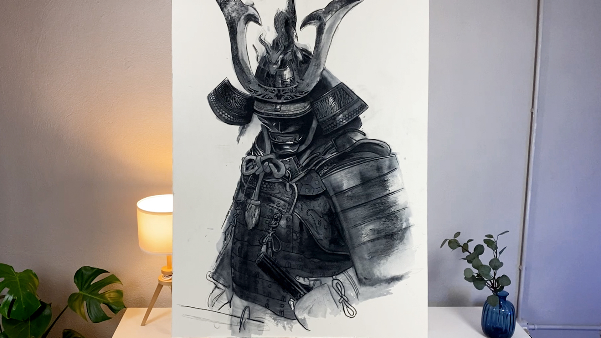 Samurai Acquerello Stefano Marvulli